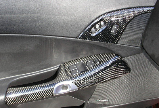 Lamination C6 Corvette Black Carbon Dashes